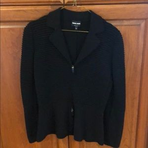 Cozy Giorgio Armani black sweater jacket